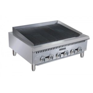 "Black Diamond BDCTC-36 36"" Heavy Duty Gas Countertop Radiant Charbroiler 120,000 BTU"