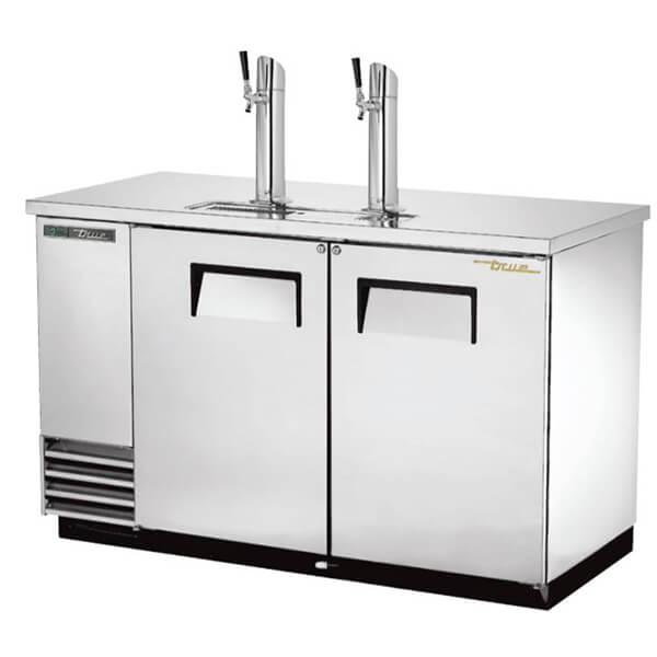 True TDD-2-S-HC Direct Draw Beer Dispenser Single Tower Silver