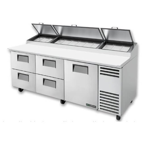 True TPP-AT-93D-4-HC Pizza Prep Table 12 Pans 93 inch