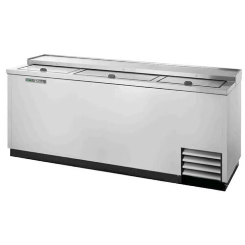 True TD-80-30-S-HC Bottle Cooler Slide Lid 80 inch Silver