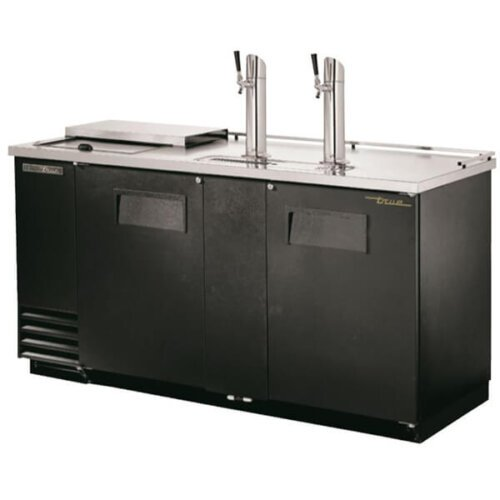 True TDD-3CT-HC Direct Draw Club Top Beer Dispenser Double Tower Black