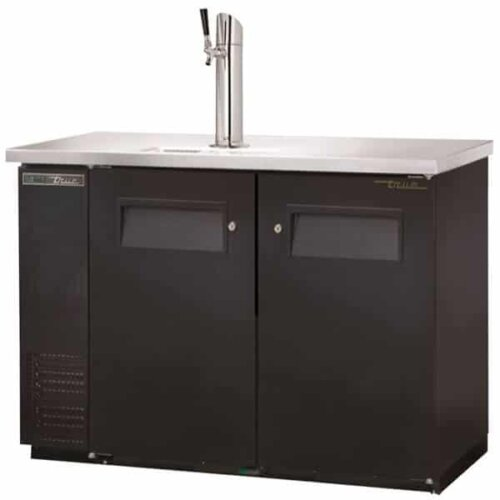 True TDB-24-48-HC Direct Draw Beer Dispenser Single Tower Black