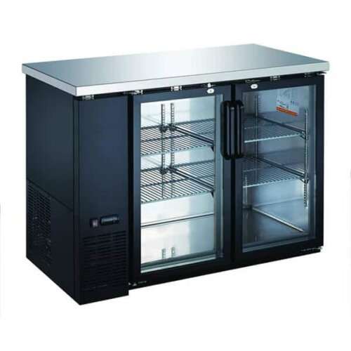 "Omcan 50060 60"" Glass Door Back Bar Bottle Cooler - 15.8 Cu Ft"