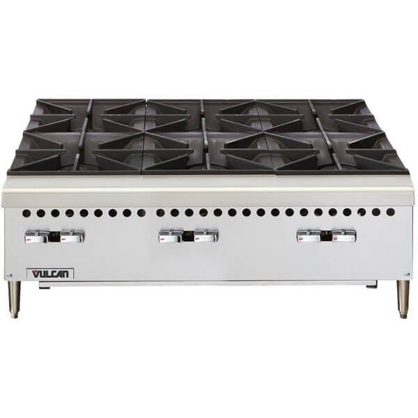 Vulcan VCRH36-1 Natural Gas Hot Plate 36 inch 6 Burners 150,000 BTU