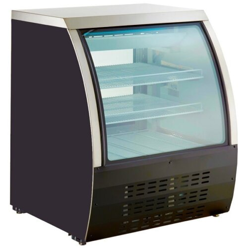 Kitchen Monkey KMDC-36 36 Curved Glass Refrigerated Deli Case 11.6 Cu Ft