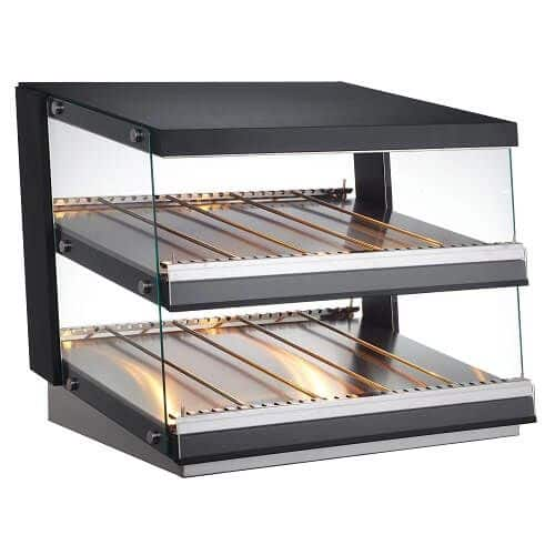 Kitchen Monkey KMHFD-85 31.5 Heated Countertop Display Cabinet with Front Access 120V