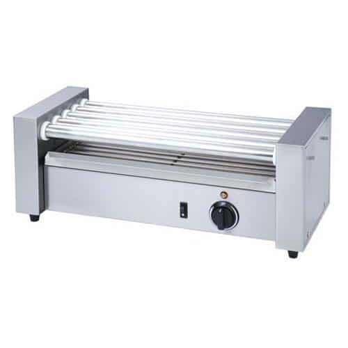 Kitchen Monkey KMRG-05 Commercial Countertop Hot Dog Roller Grill with 5 Rollers - 120V, 400W