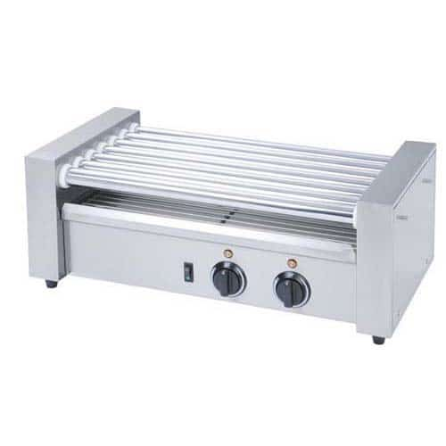 Kitchen Monkey KMRG-07 Commercial Countertop Hot Dog Roller Grill with 7 Rollers - 120V, 560W