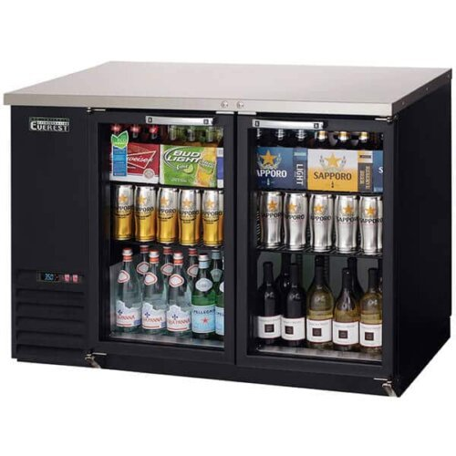 EBB48G-24 Back Bar Refrigerator 2 Glass Doors 13cuft