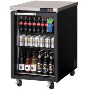 Everest EBB23G Back Bar Cooler 1 Glass Door 8 image