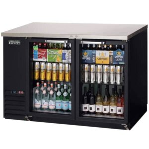 Everest EBB48G Back Bar Refrigerator 2 Glass Doors 14 cuft