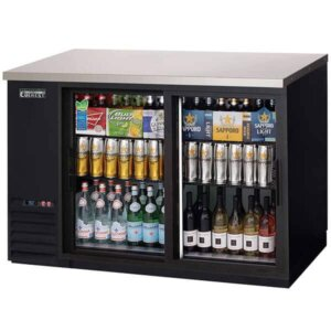 Everest EBB48G-SD Back Bar Refrigerator 2 Glass Swing Doors 13 cuft