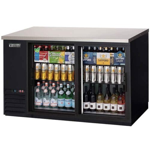 Everest EBB59G-SD Back Bar Cooler 2 Glass Doors Sliding 17 cuft image
