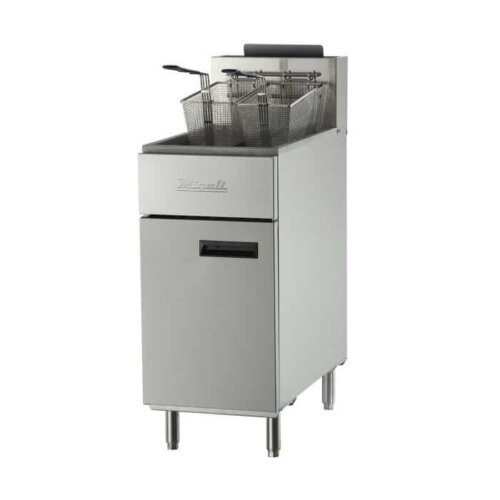 Migali C-F50-LP Liquid Propane 50 lb Floor model Fryer 120,000 BTU