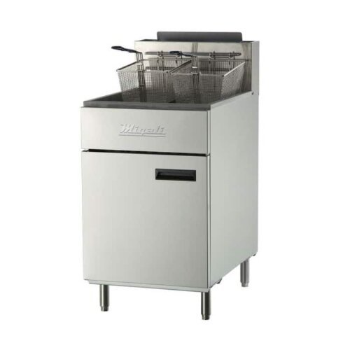 Migali C-F75-NG Natural Gas 75 lb Floor Model Fryer 170,000 BTU