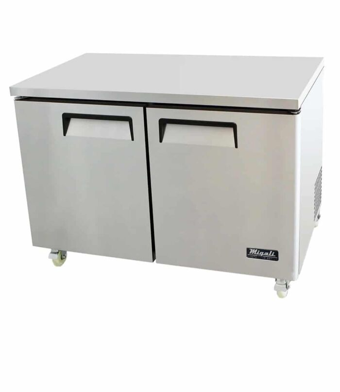 Migali C-U48F-HC 2- Door Undercounter Freezer – 12 Cu Ft